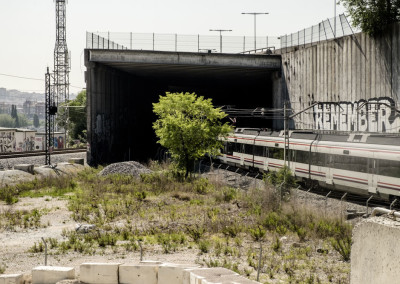 Abandoned Cement plant. Immediate train