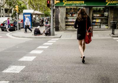 Barcelona. Crossing the street
