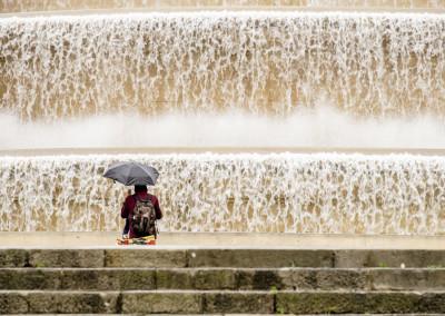 Montjuic. Water everywhere